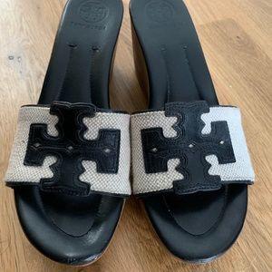 Tory Burch Wedge Slide Sandal size 8.5